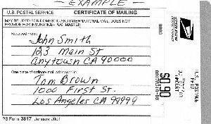 Certificate Of Mailing Form - ktrdecor.com