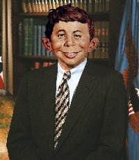 Alfred E Neuman politician, by